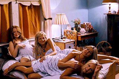 Jen's foursome in <i>Wanderlust</i>