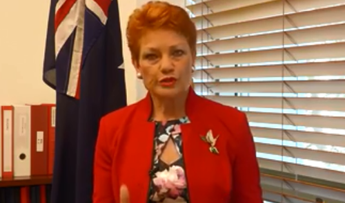 """Pauline Hanson is outraged by this girl's decision, saying she'd """"give her a kick up the backside""""."""