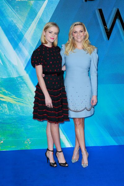Ava&nbsp; Phillippe and Reese Witherspoon at the European premiere of <em>A Wrinkle In Tim</em>e in London, March, 2018