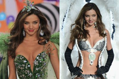 "Supermodel <b>Miranda Kerr</b> announced that she won't be walking the runway for the 2013 Victoria's Secret show, since strutting the lingerie brand's catwalk since 2006. <br/><br/>So to celebrate the past seven years of her Angel days, we've collated her most smokin' looks on the Victoria's Secret catwalk. Stay tuned after the pics to watch the brunette trying on the stunning $2.5 million ""treasure bra"". Racy!"