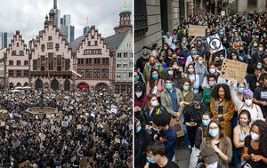 Thousands of anti-racism protesters stage street rallies across Europe