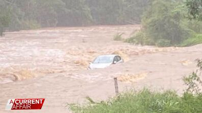 What really happened to the car swept away in flood waters
