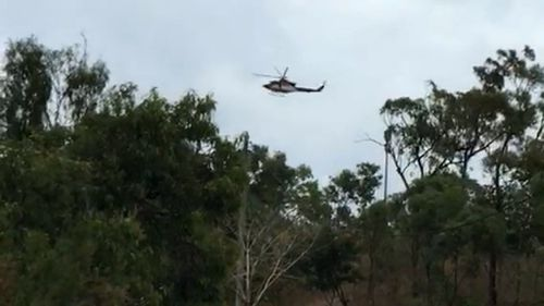 Rescue helicopters, police, volunteers and SES crews are among those searching for the boys. (9NEWS)