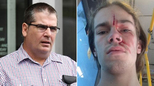 Craig Hoelscher (left) faced court charged over the alleged attack. (AAP, Twitter: Kevin Rudd)