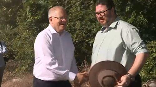 Prime Minister Scott Morrison with George Christensen.