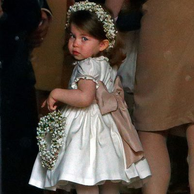 Princess Charlotte at Pippa Middleton's wedding, May 2017