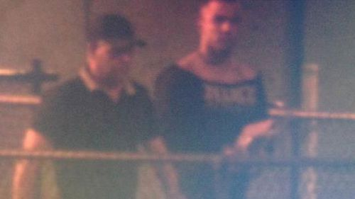 Daniel Kerr walked out of Hakea Prison in Perth with his father. (9NEWS)