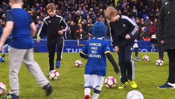 9RAW: Everton Football Club make terminally ill boy a mascot