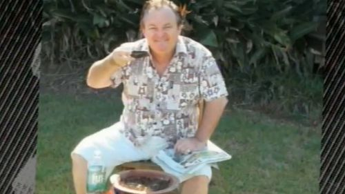 Peter Foster drinks Fijian drink kava, in an bid to show he was in Fiji. (9NEWS)
