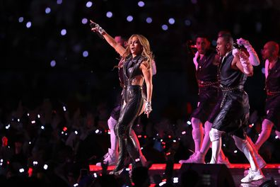 Jennifer Lopez performs during the Pepsi Super Bowl LIV Halftime Show at Hard Rock Stadium on February 02, 2020 in Miami, Florida