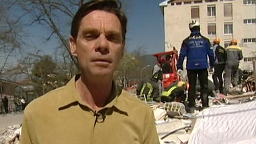 """""""There's never really a dull moment,"""" Penfold says of being a foreign correspondent. (9NEWS)"""