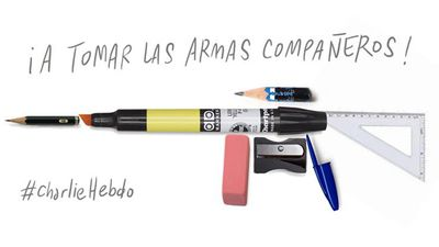 """To arms, companions!"" - Francisco J. Olea, Chilean designer and artist"