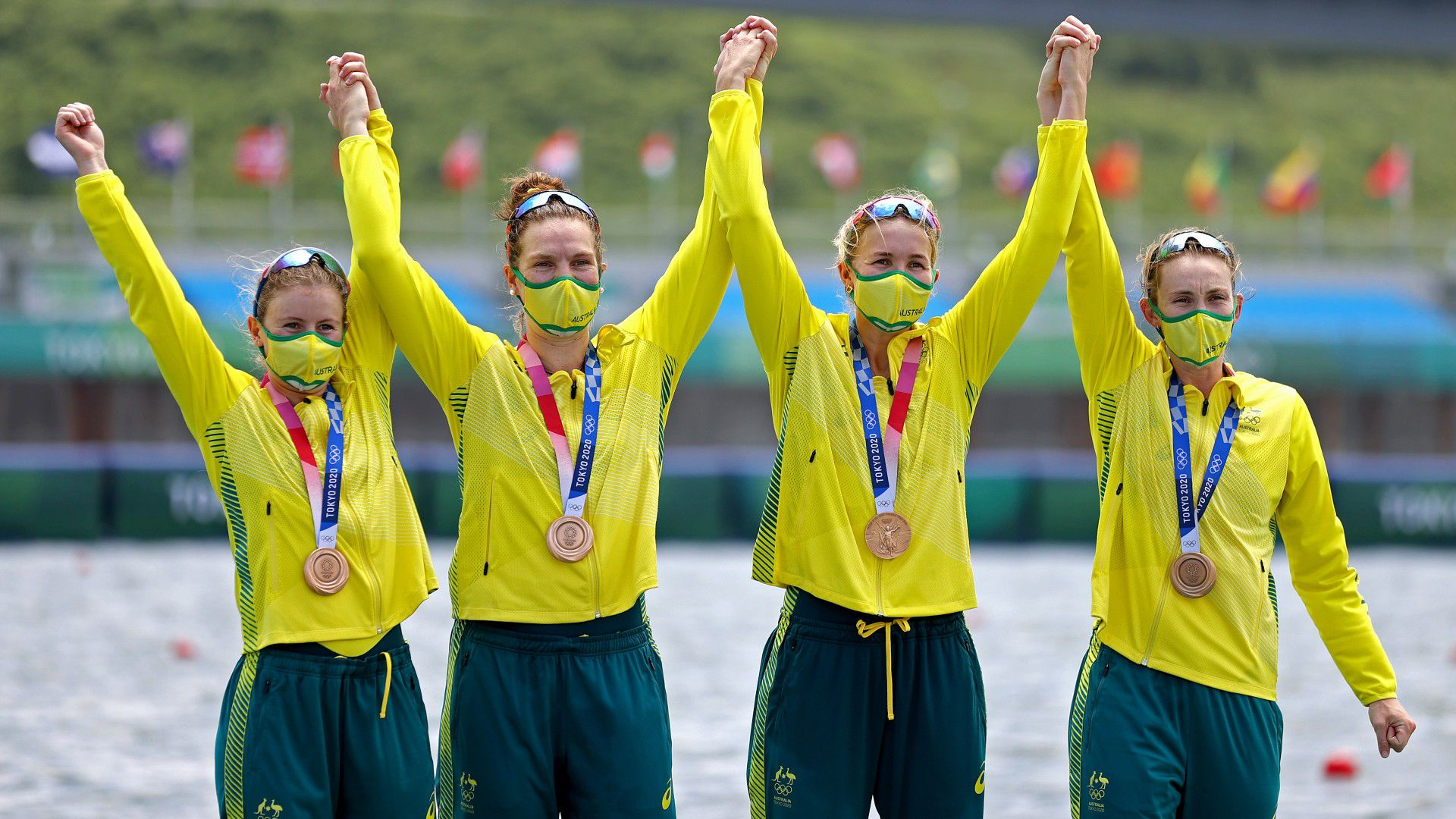 Incredible mishap from Germany leads to surprise bronze for Australia's women's quad sculls team