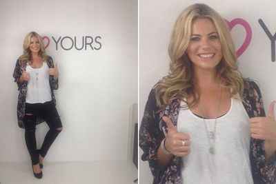 """In July 2014, the 31-year-old beauty was named the face of plus-size brand Yours Clothing, taking over from David Hasselhoff's model daughter Hayley Hasselhoff.<br><br>""""It's official! I can finally announce I am the new face of Yours Clothing! I am so happy to be a part of the Yours team here in the UK! xxx,"""" she wrote on Facebook.<br><br>Images: Fiona Falkiner/Facebook"""