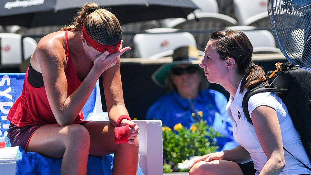 Heatwave claims French tennis star Kristina Mladenovic at Sydney International