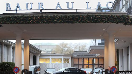 Hotel Baur au Lac in Zurich, where Swiss officials arrested FIFA football officials