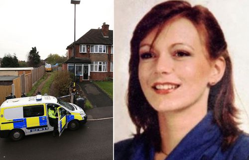 UK police investigating the murder of Suzy Lamplugh, right, are searching a house in Birmingham, central England.
