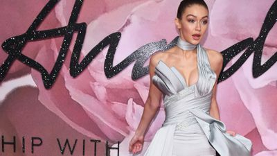 Gigi Hadid has been named the Model of the Year at the 2016 Fashion Awards taking place at the Royal Albert Hall.<br /> It was an evening of contrasts with Gigi busting out in Versace, Lady Gaga arriving with stylist and designer Brandon Maxwell in a subdued black halter-neck evening gown and Hollywood actor Jared Leto looked as though he was wearing an entire Gucci rack alongside designer Alessandro Michele. <br /> The event, sponsored by Swarovski, is being geared up to rival the Met Gala in New York, overseen by US <em>Vogue</em> editor Anna Wintour. Being Britain, however, the red carpet in London is slightly cooler with former Pussycat Doll performer Nicole Scherzinger coming the closest to US polish in a barely there Julien Macdonald bodysuit.<br /> Take a look at the red carpet here.