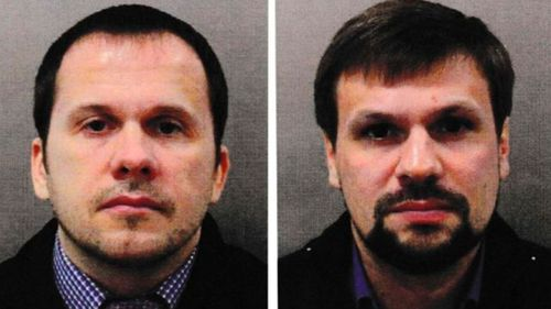 British authorities released these images of the suspects.