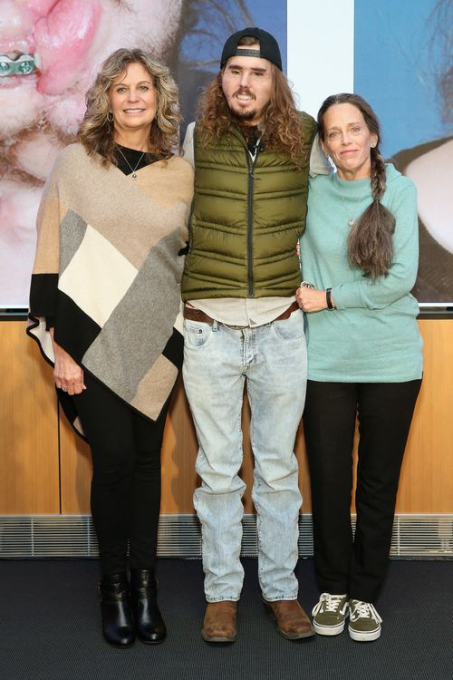 Cameron, pictured with his mother Bev Bailey-Potter and friend friend Sally Fisher, turned a shotgun on himself in June 2016.