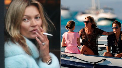Holy smokes! Kate Moss 'flies electronic cigarettes first class to Spain for $3500'