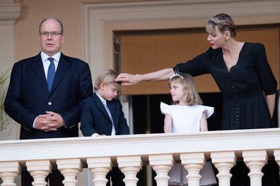 Prince Albert II of Monaco, Prince Jacques of Monaco, Princess Gabriella of Monaco and Princess Charlene of Monaco.