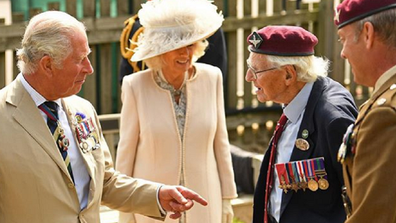 After the formalities were over, Charles and Camilla spent time with gathered veterans.