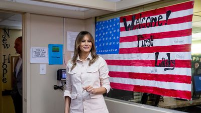 Melania Trump makes surprise visit to detained immigrant children
