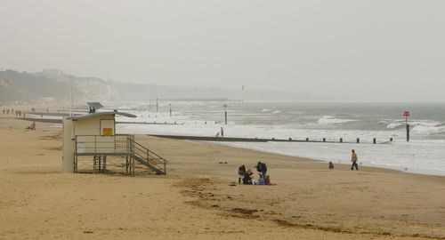 Bournemouth Beach on most others days doesn't look as enticing. (AAP)