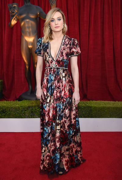 Actress Brie Larson at the 2018 SAG Awards