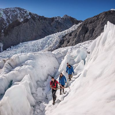 Hiking across Franz Josef glacier