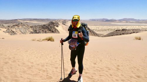 While his current race total is at 343, including the extremely tough Marathon Des Sables through the Sahara Desert, Morrow said he wants to reach 365 - one race for every day of the year. Picture: Supplied.