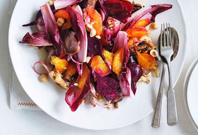 Duck, orange and beetroot salad