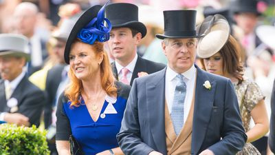 <p>Sarah Ferguson and Prince Andrew, Duke of York during day four of the 2015 Royal Ascot. (AAP)</p>