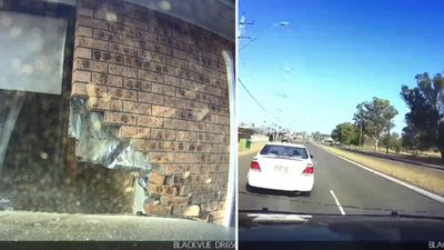 Drunk driver's own dashcam captures crash into house
