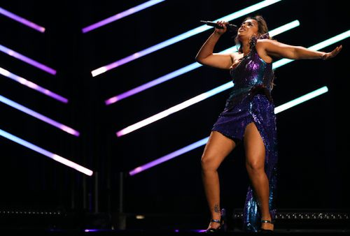 Jess' performance is so energetic she sustained an injury during rehearsals. (AAP)