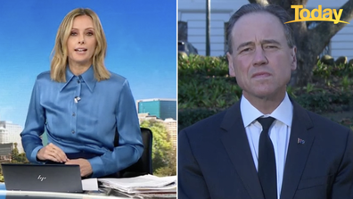 Ally questioned Health Minister Greg Hunt this morning.