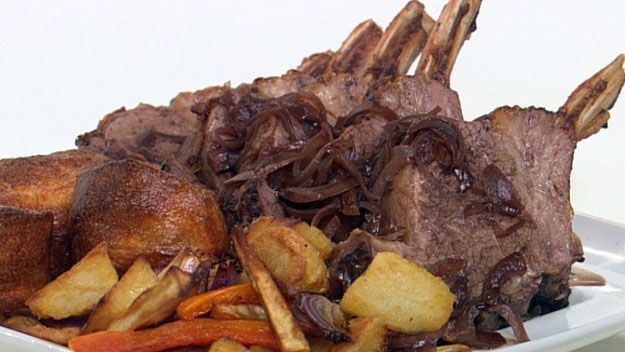 Traditional roast beef with yorkshire pudding