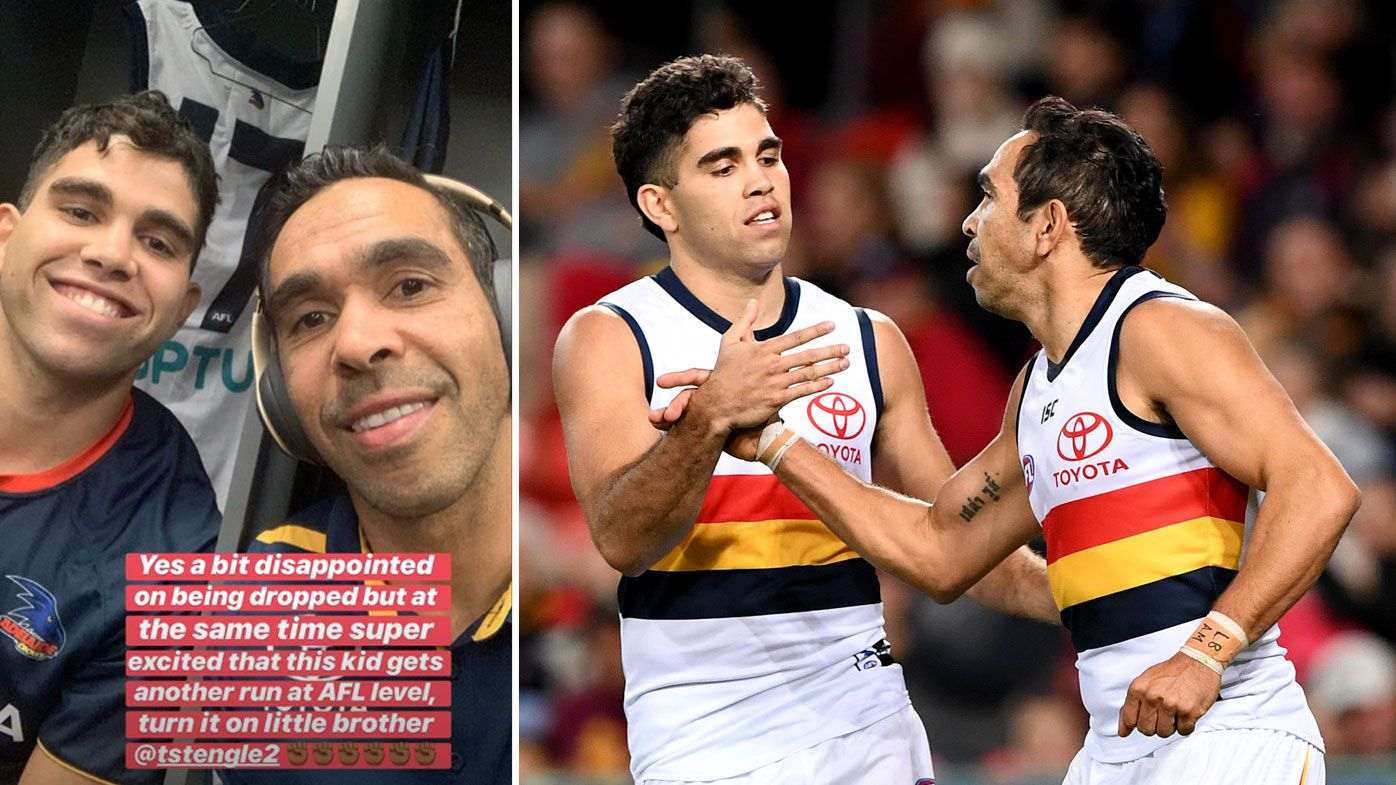 Eddie Betts' classy reaction to shock AFL axing and young teammate's promotion