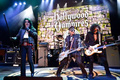 Alice Cooper, Johnny Depp and Joe Perry perform as Hollywood Vampires