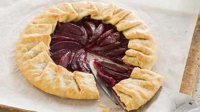 """Click through for our&nbsp;<a href=""""http://kitchen.nine.com.au/2016/05/04/15/59/easy-plum-galette"""" target=""""_top"""">Easy plum galette</a>"""