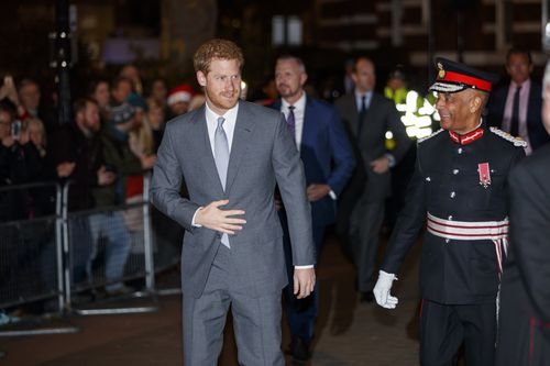 He was without Meghan on his arm on this occasion. Picture: AAP