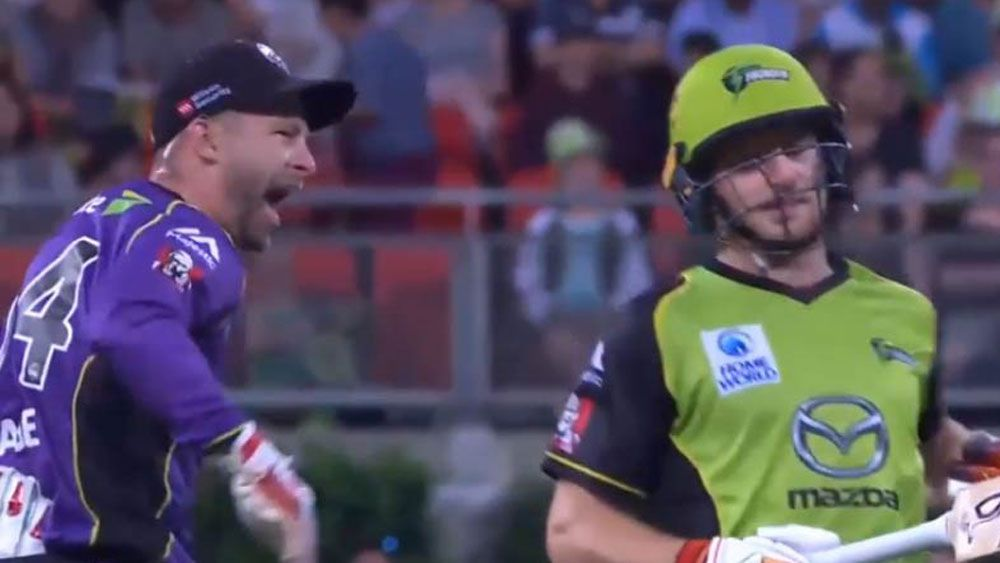 Former Test wicketkeeper Matthew Wade and Adelaide captain Travis Head reprimanded for BBL send-offs