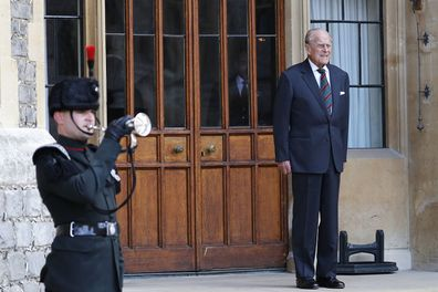 Prince Philip The Duke of Edinburgh at Windsor Castle for a ceremony for the transfer of the Colonel-in-Chief of the Rifles.