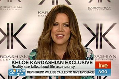 "<i>Keeping Up With The Kardashians</i> star Khloe abruptly cut short an interview with <i>Sunrise</i> when host Samantha Armytage asked about sister Kim Kardashian's baby North. <br/><br/>Samantha revealed on air that Khloe's US producers ""pulled the plug"" because the questions weren't pre-approved. Khloe slammed <i>Sunrise</i> on Twitter, calling the show ""f---ing desperate"".<br/><br/>Her people apologised to Seven. Ahh, damage done."