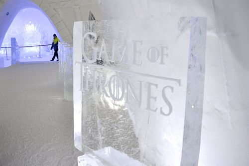 The specially-made Game of Thrones hotel is part of the Snow Village festival in Finland. (AAP)
