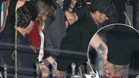 Back on: Johnny Depp snapped holding hands with Amber Heard