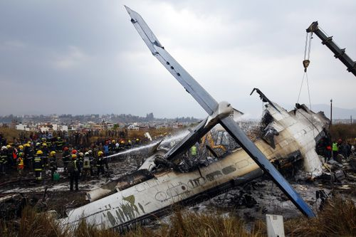 The plane was 17 years old, company officials said. (AP)