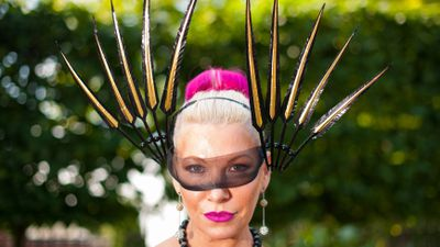 <p>Race-goer Anna Mott during day one of the 2015 Royal Ascot Meeting. (AAP)</p>