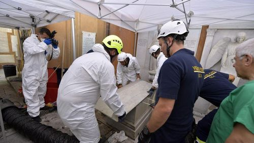 The Vatican court's promoter of justice ordered the two tombs to be opened after a petition from Orlandi's family.